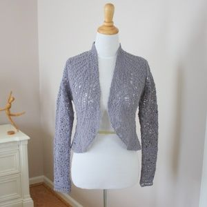 ANTHROPOLOGIE Angel of the North gray sweater NWT